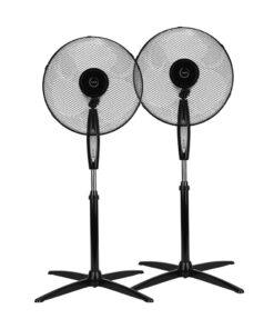 Fuave SV3010 Duo Pack Zwart Statief ventilatoren