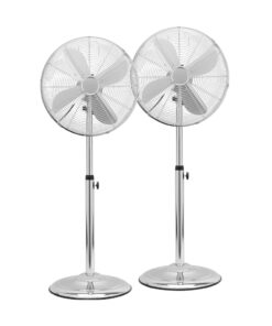Fuave SV5010 Duo Pack Chrome Statief ventilatoren