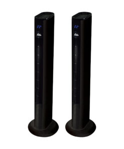 Solis Easy Breezy Mat Zwart Duo Pack Mat Zwart Statief ventilatoren