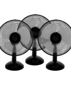 Fuave FV1010 Triple Pack Zwart Tafel ventilatoren